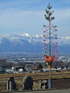 松本平の御柱の写真