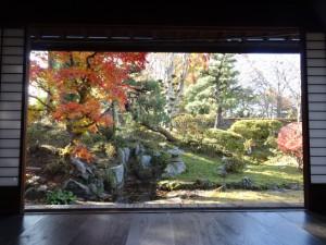 主家からの坪庭の眺め