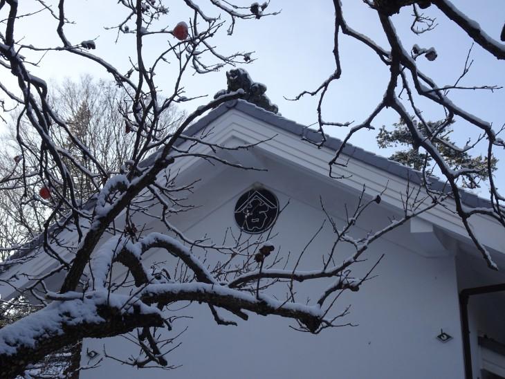雪を被った文庫蔵