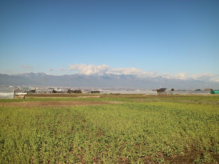 前田からの眺望(撮影:令和3年3月23日)