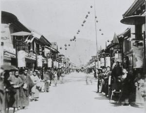 明治時代の中町通り