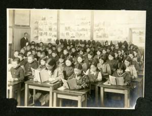 昭和初期の教室の様子