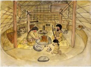 縄文時代の家の中(イメージ図)