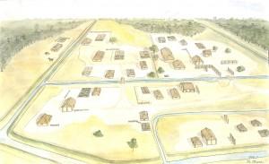 平安時代の大きなムラ(川西開田遺跡の想像図)