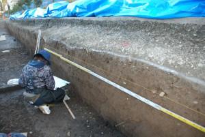 発掘された土層