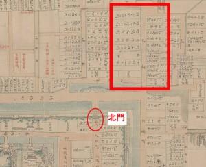 維新前松本藩士屋敷割図