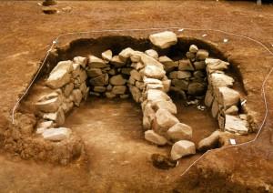 発掘当時の石室の様子