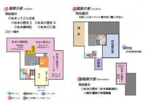松本市立博物館館内案内図(H30)