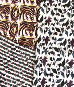 木版染布三種