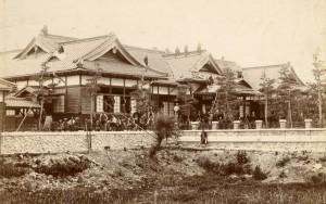 明治41年竣工直前の旧松本区裁判所庁舎