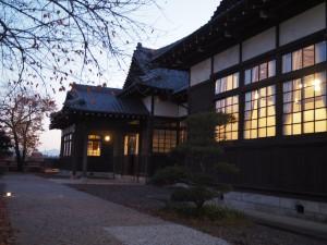 17時頃の旧松本区裁判所庁舎