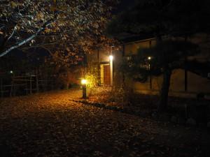 昼と雰囲気が一番変わるのは木下尚江生家でしょうか。