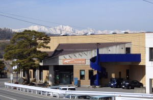 化石館からアルプスの眺望 錦部地区