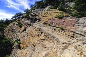 岩井堂の砂岩層