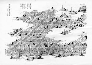 初市の図「長野県町村誌」より