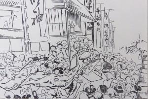 『松本繁昌記』初市の挿絵