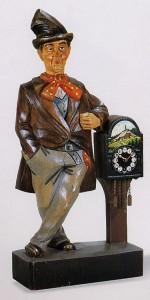 153口笛吹人形置時計