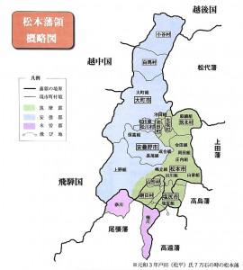 松本藩領概略図