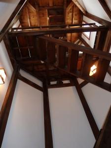 八角塔に昇る階段