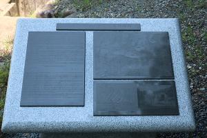 半地下工場跡群の碑