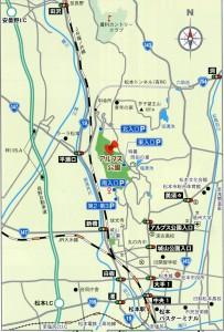 アルプス公園アクセスマップ2017